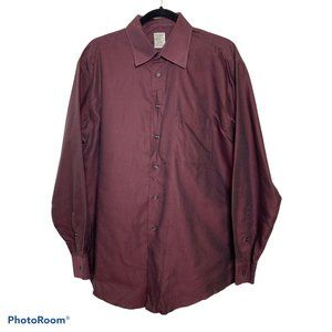 Pronto Uomo Red Square Patterned Dress Shirt 16.5